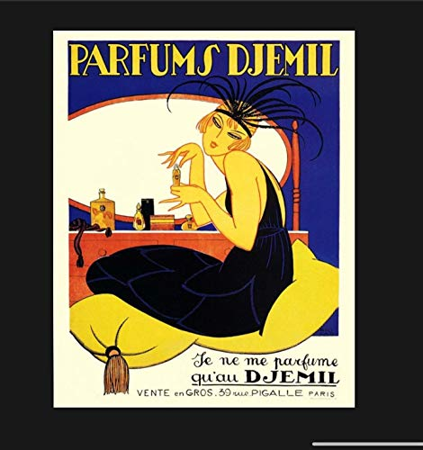 Promini Vintage French Perfume Ad Metal Sign, Cognac Sign, F