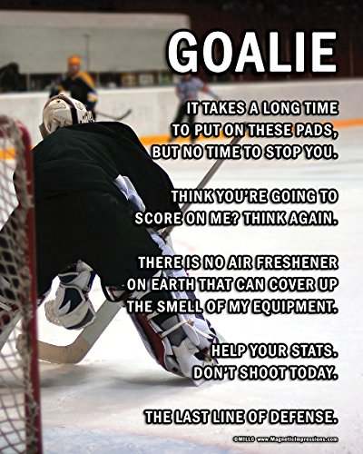 "Unframed Ice Hockey Goalie on Ice 8"" x 10"" Sport Poster Print"