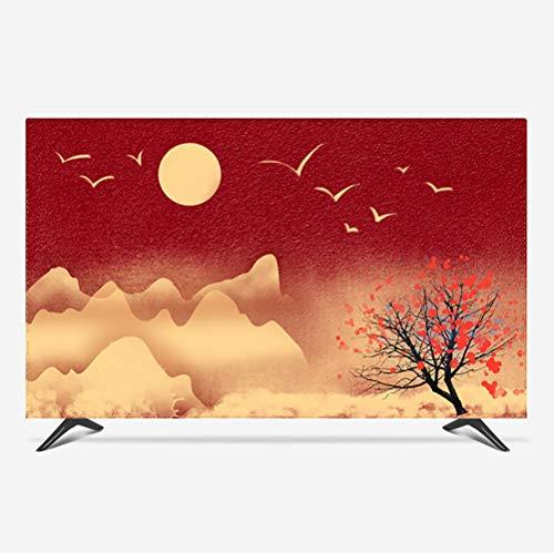 Stasy 22'-80'' Pulgadas Universal Cubierta de TV Protector TV para Televisor LCD, LED, ó Plasma, Resistente al Agua, Interior Protector de Pantalla +1 pañoa(Color:Red 3,Size:27-28inch)