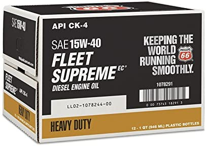 discount Unknown Phillips 66 1078291-12 PK Diesel Engine Oil (Fleet new arrival Supreme EC- API CK-4 15W40-1 Quart), outlet sale 32 fl. oz, 12 Pack outlet online sale