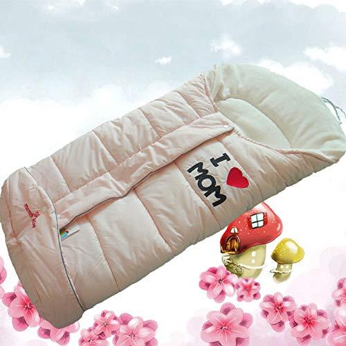 nohbi Saco de Dormir Bebe en Algodón Natural,El bebé Sale a Dormir en Invierno, Espesa la Colcha Infantil antipatadas, Rosa,Carrito de Bebé Manta