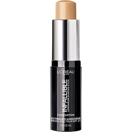 L'Oreal Paris Makeup Infallible Longwear Shaping Stick Foundation, 406 Warm Beige, 1 Tube, 0.32 Ounce