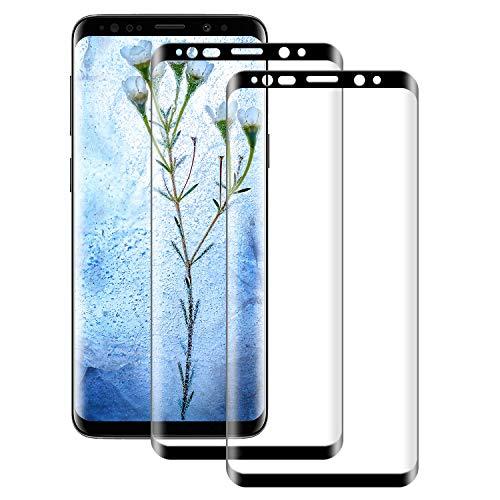 NUOCHENG Verre Trempé pour Samsung Galaxy S9 Plus, Lot de 2 Couverture Complète Film Protection écran en Protecteur Vitre, sans Bulles, HD Ultra Résistant, Dureté 9H pour Samsung Galaxy S9+