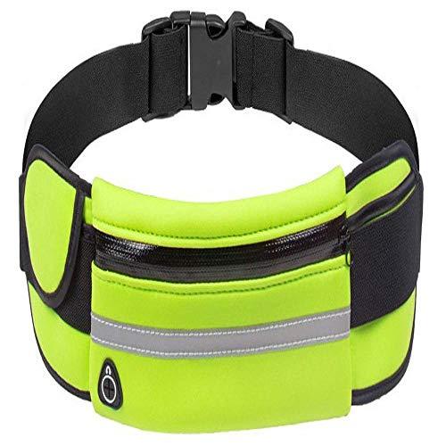 6YGR - Mochila impermeable para deportes al aire libre Bodypack, impermeable y antirrobo, color Impermeable fluorescente verde, tamaño Allmobilephones