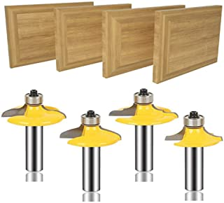 Sponsored Ad – MAYLNE Router Bit Set Door and Drawer Front Edging 1/2-Inch Shank 4 PCS, Woodworking Milling Cutter Tools, ...
