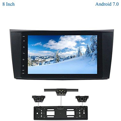 XISEDO Android 7.1 Autoradio Voiture Radio 8 Pouces Car Radio RAM 2G Système de Navigation GPS Stéréo de Voiture avec Écran Tactile pour Mercedes-Benz E-W211/E200/E220/E240/E270/E280