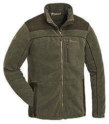 Pinewood PRESTWICK EXKLUSIV Fleece Jacke Winter Jagd Angeln Freizeit Outdoor Fleece Jacke, Grün, M