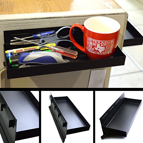 """CMS Magnetics Magnetic Tool Tray 12""""x4.5""""x1.25"""" Black Tool Organizer w/Side Holding Magnets for Cabinets, Tool Boxes or Kegerator Fridge 