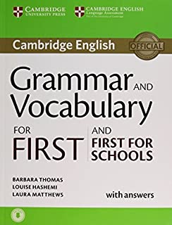 Grammar and Vocabulary for First and First for Schools Book with Answers and Audio by Barbara Thomas Louise Hashemi Laura ...
