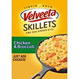 """Six 13.6 oz boxes of Velveeta Skillets Chicken & Broccoli Dinner Kit Item Package Dimension:11.5 """" L X7.25 """" W X8.188 """" H Item Package Weight:2.769 kg Country Of Origin: United States"""