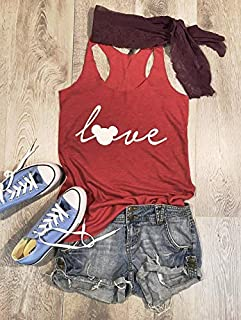 Small/Red Tri-Blend Tank/Disney Love/Love Mickey/True To Women's Fit/Eco Friendly Ink Screen Printed/Hand Made/Women Clothing/Disney Inspired Tank/Super Soft Tank/