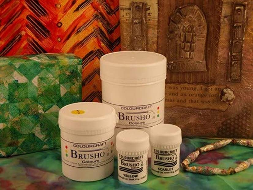 Brusho Crystal Colours 15 Gram Burnt Sienna