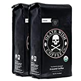 Death Wish Coffee Ground Coffee Bundle Deal, The World's Strongest Coffee, Fair Trade and Organic - 2 lb.