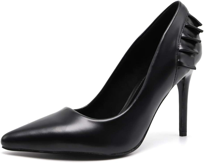 Novel Harp Women Pumps Pointed Toe Ruffles High Heels Ladies Wedding Party Dress Stiletto Heeled shoes