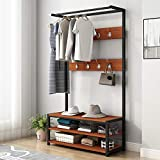 Free Standing Coat Racks Heavy Duty With Shoe Rack, Modern Minimalist Coat Rack Entrance Channel Storage Rack Multi-Function Rack Industrial Coat Rack Shoe Bench Hall Tree Entryway Storage Shelf