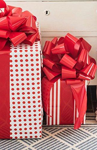 GiftDayz!! Riesige Riesen-Schleife für Hochzeiten, Hochzeiten, Hochzeiten, Geburtstagsgeschenke, Einfach anzubringen und Wiederverwendbar Rot