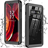 Nineasy for Samsung Galaxy S10 Case, S10 Waterproof Case with Built-in Screen Protector, Full Body Protective Heavy Duty Shockproof IP68 Waterproof Clear Case for Samsung Galaxy S10 4G 6.1 inch