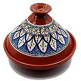 Tajine Pentola Terracotta Piatto Etnico Marocchino Tunisino L 27cm 3010201100