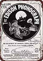 1901エジソン蓄音機ビンテージルック再現壁の装飾金属ティンサイン