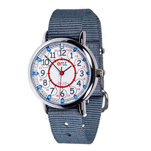 Product Image of the EasyRead Time Teacher Analog Learn The Time Childrens Watch Grey #ERW-RB-24