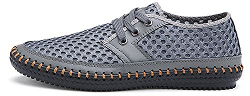 MIXSNOW Men's Poseidon Slip-On Loafers Water Shoes Casual Walking Shoes Gray43 Grey