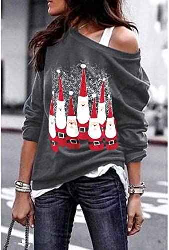 Long Sleeve Funny Tree Truck Letter Printed Pullover Sweatshirt Blouse Tops Hailouhai Womens Christmas Round Neck Pullover