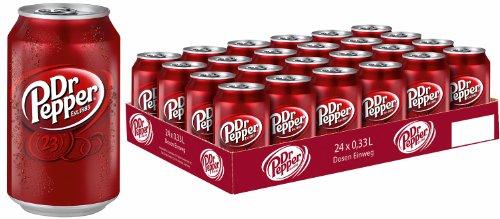 Dr. Pepper, 24er Pack, (24 x 330 ml Dosen) inc. 6.00€ EINWEG Pfand