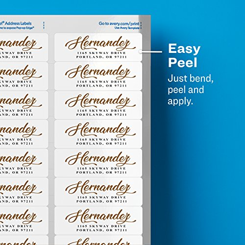 """Avery Return Address Labels for Laser Printers, 1"""" x 2-5/8"""", 750 Glossy White Labels (6526) Photo #6"""