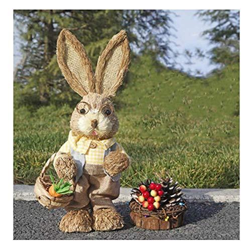 LIUSHI Artesanas de Conejito de Pascua, decoracin de Oficina y hogar Accesorios de decoracin de Fiestas La Mejor opcin de Pascua