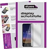 dipos I 2X Schutzfolie klar kompatibel mit Nokia 2.2 Folie Bildschirmschutzfolie (bewusst Kleiner als das Glas, da Dieses gewölbt ist)