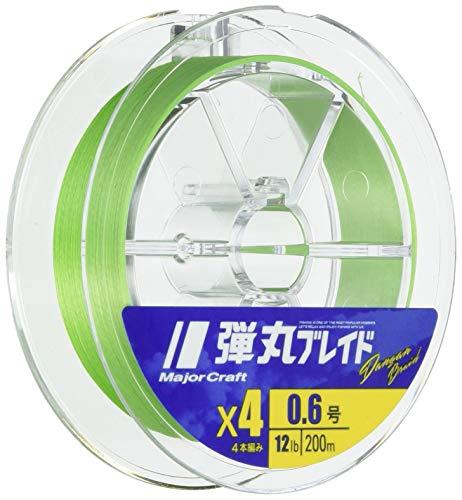 メジャークラフト PEライン 弾丸ブレイド 4本編み 単色 DB4-200/1GR グリーン 200M/1.0号