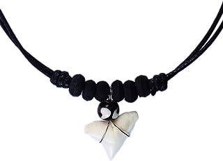 Exoticdream Real Shark Tooth Necklace Surfer Hawaiian Beach Boys Girls Men - Small Bead