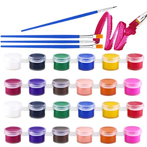 butterfunny 5 Sets Mini Paint Sets, 12 Colors Water Paint Set, Children Painting Artistic Crafts and Supplies