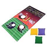 CLISPEED Jeux de Football de Rugby avec 3 Sacs de Haricots Lancer de Baseball Lancer des Bannières Jeu de Fête de Football Intérieur Et Extérieur pour Enfants Adultes Fournitures de Fête