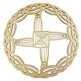 Known as an Irish christian symbol, the original design was probably inspired by the pagan sun wheel. The distinctive St. Brigids Cross design, made from woven rushes, is thought to keep evil, fire and hunger from the homes in which it is displayed, ...