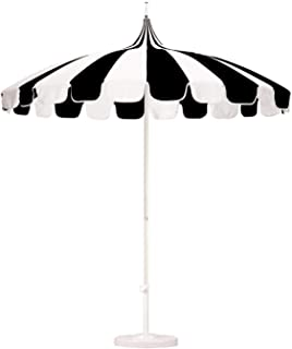8.5 ft. Patio Umbrella in Pacifica Black and Natural Fabric