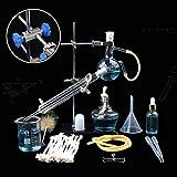 XFY Cristalería Material de Laboratorio Unidad de Destilación Equipo de Enseñanza de Química Experimental, Unidad de Destilación de Suministros de Laboratorio Químico