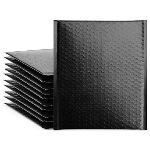 Fuxury Black 8.5x12 Poly Bubble Mailers, 25 Pack Self-Seal Shipping Bags, Bubble Padded Mailing Shipping Envelopes, Package Mailing Bags, Shipping Supplies, Packaging for Small Business