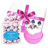 Girls Birthday Celebration Gift - Ages 5y to 12y - Includes Birthday Treat & Bubble Bath Bomb with Surprise inside - Made in the USA
