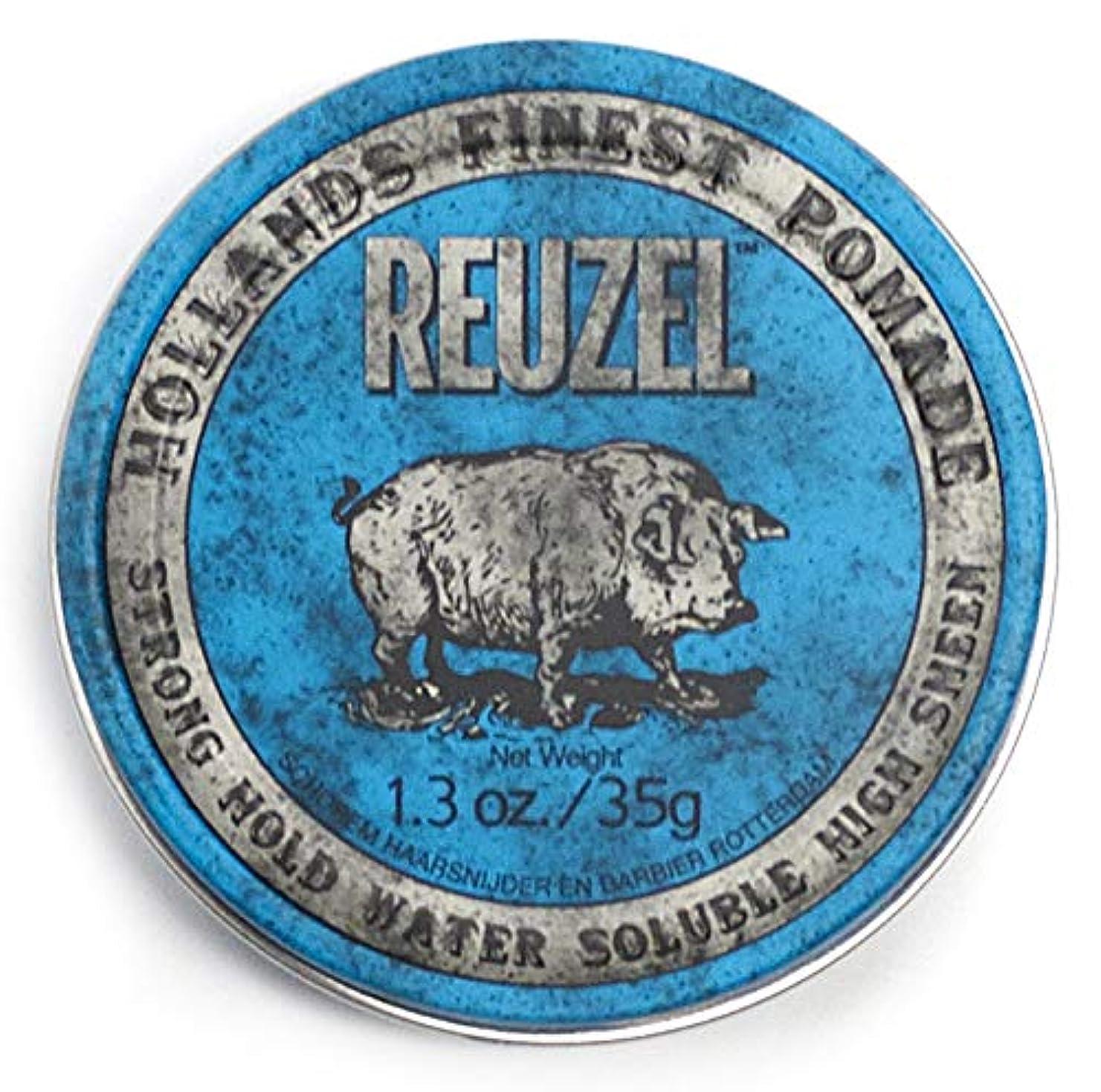 騒々しい非効率的な抵当ルーゾー ブル ストロングホールド ハイシーン ポマード Reuzel Blue Strong Hold Water Soluble High Sheen Pomade 35 g [並行輸入品]
