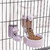 KHDJ Distributeur Croquettes Et Eau, Distributeur d'eau (0.5 L) et de Nourriture (2L) pour Chien et Chat, Plastique,Distributeur d'eau d'animaux,Gamelle Animaux Domestiques Food Feeder,Violet