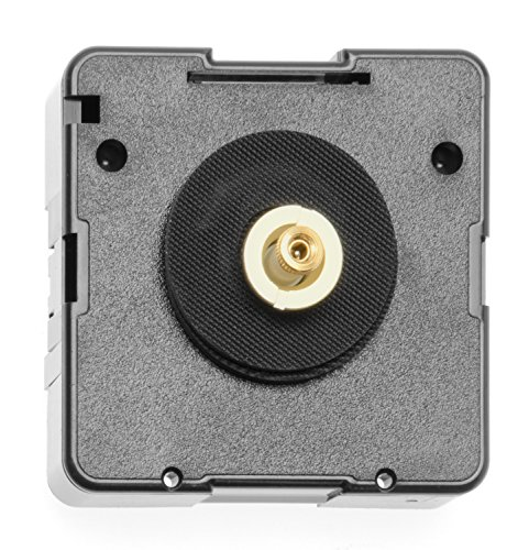 Glorex GmbH 6 5010 103 Quarzuhrwerk für Zifferblattstärke 1-4 mm, Halbrundachse