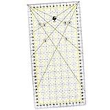 OfficeTree Righello per taglierina Righello Universale 30x15 cm arcyl - Righello per Patchwork, per Cucire con Misure e Tagli precisi