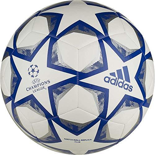 Adidas Unisex Jugend Fin 20 - Pallone da allenamento, bianco/blu/argento, 5
