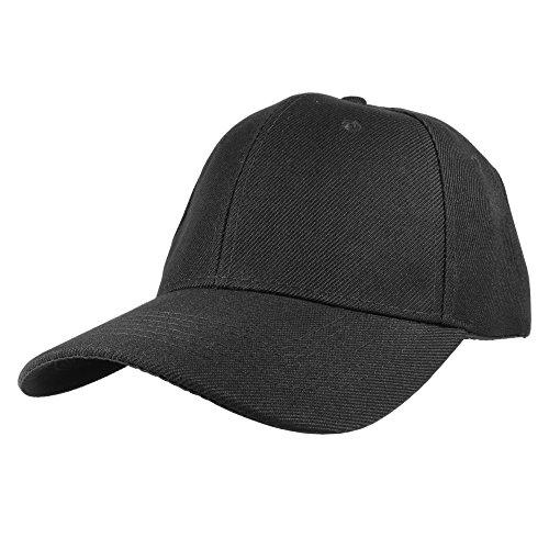 Gelante Plain Blank Baseball Caps Adjustable Back Strap 3 PC-001-Black Maryland