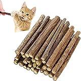 Cymeosh 30 Stück Katzenminze Sticks, Matatabi Katzen Kauhölzer, Matatabi-Kausticks...