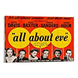 KDIU All About Eve 1950 Vintage-Filmposter, Leinwand,