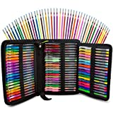 120 Color Artist Gel Pen Set includes 28 Glitter Gel Pens 12 Metallic, 11 Pastel, 9 Neon, plus 60 Matching Color Refills, More Ink Largest Art Neon Pen for Adults Coloring Books Craft Doodling Drawing
