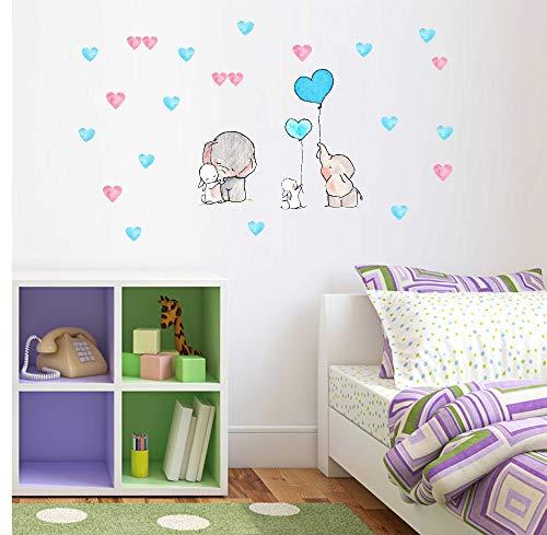 Cooqitu olifant boek ballon wandlamp voor kinderen, vinyl, zelfklevend, kleuterschool, kamer, afneembaar, behang, decoratie, thuis, moderne muur, kunst