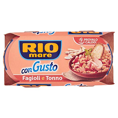 Rio Mare - ConGusto Fagioli e Tonno, Piatto Pronto da Gustare anche Caldo, 2 lattine da 160g